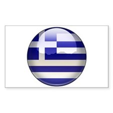 Greece Flag Jewel Rectangle Stickers