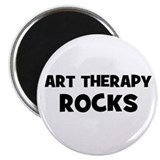 "Art Therapy Rocks 2.25"" Magnet (10 pack)"