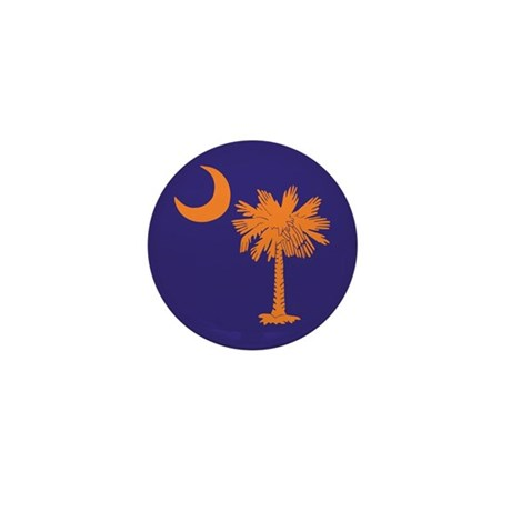 Orange and Purple SC Flag Mini Button (10 pack)