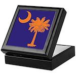 Orange and Purple SC Flag Keepsake Box