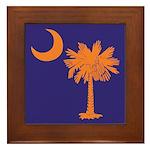 Orange and Purple SC Flag Framed Tile