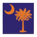 Orange and Purple SC Flag Tile Coaster