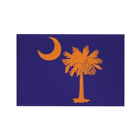 Orange and Purple SC Flag Rectangle Magnet