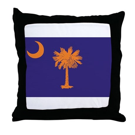 Orange and Purple SC Flag Throw Pillow
