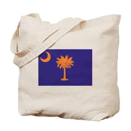 Orange and Purple SC Flag Tote Bag