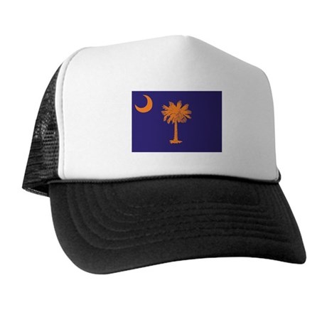 Orange and Purple SC Flag Trucker Hat