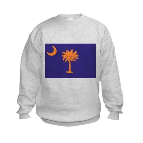 Orange and Purple SC Flag Kids Sweatshirt