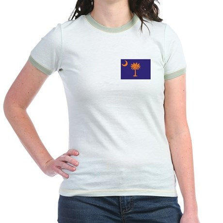 Orange and Purple SC Flag Jr. Ringer T-Shirt