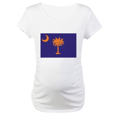 Orange and Purple SC Flag Maternity T-Shirt