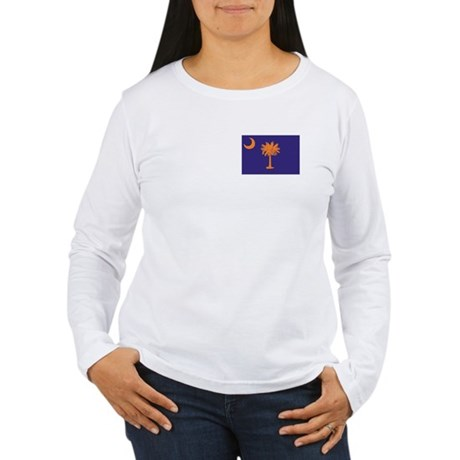 Orange and Purple SC Flag Women's Long Sleeve T-Sh
