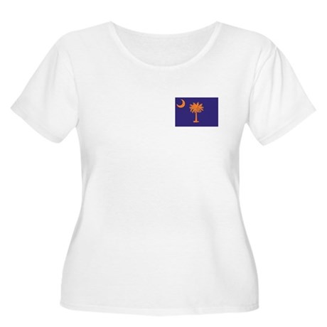 Orange and Purple SC Flag Women's Plus Size Scoop