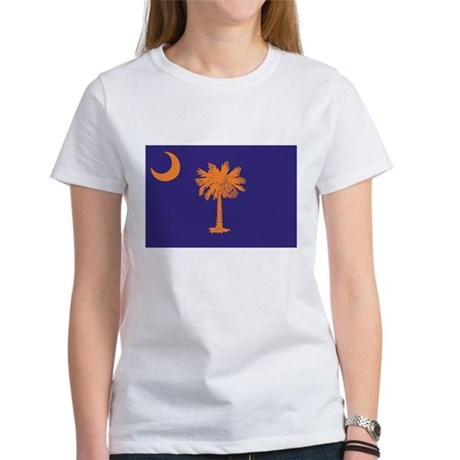 Orange and Purple SC Flag Women's T-Shirt