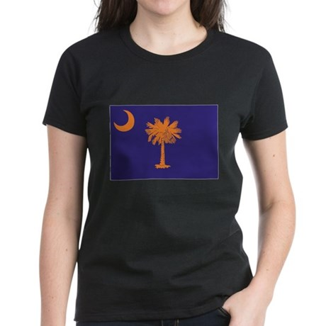 Orange and Purple SC Flag Women's Dark T-Shirt