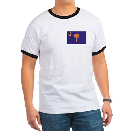 Orange and Purple SC Flag Ringer T
