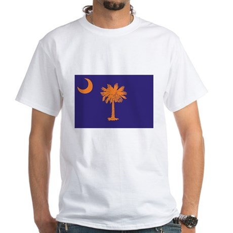 Orange and Purple SC Flag White T-Shirt