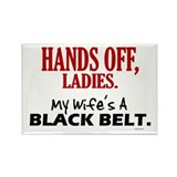 Hands Off Ladies 1 Rectangle Magnet (10 pack)