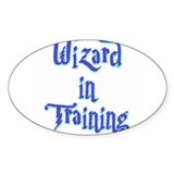 Wizard in Training 2 Oval Decal