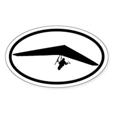Hang Glider Oval Decal