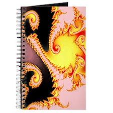 """""""Golden Dragon"""" Fractal Art Journal"""