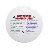 Dachshund Property Laws 2 Ornament (Round)