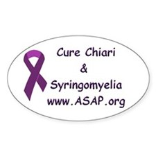 Chiari/Syringomyelia Oval Decal