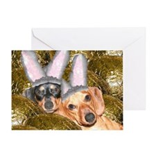 Easter Bunny Ears Dogs Greeting Card