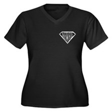 SuperNewfie(metal) Women's Plus Size V-Neck Dark T