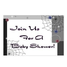Gothic Baby Shower Invite Postcards (Package of 8)