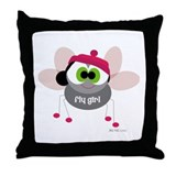 Fly Girl Throw Pillow