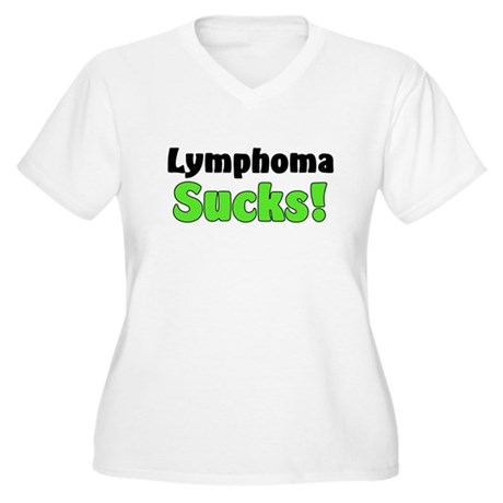 Lymphoma Sucks Women's Plus Size V-Neck T-Shirt