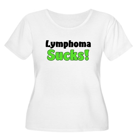 Lymphoma Sucks Women's Plus Size Scoop Neck T-Shir
