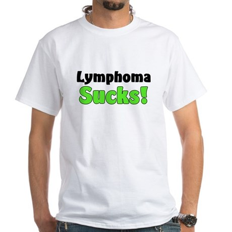 Lymphoma Sucks White T-Shirt