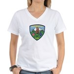 Mountain Village Police Women's V-Neck T-Shirt