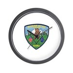 Mountain Village Police Wall Clock