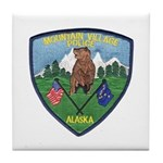 Mountain Village Police Tile Coaster