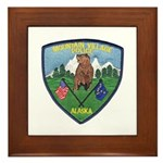 Mountain Village Police Framed Tile