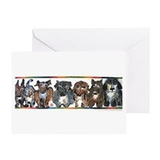 Uptown Dogs Greeting Card