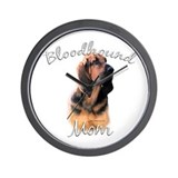 Bloodhound Mom2 Wall Clock