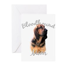 Bloodhound Mom2 Greeting Cards (Pk of 20)