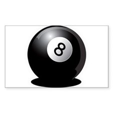 8 Ball! Rectangle Decal