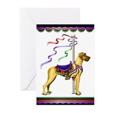 Great Dane Fawn UC Carousel Greeting Cards (Packag
