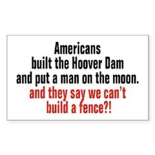 Americans built... Rectangle Decal