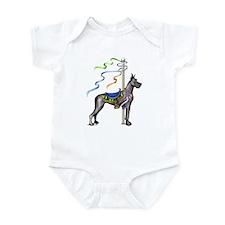 Great Dane Black Carousel Infant Bodysuit