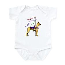 Great Dane Fawn Carousel Infant Bodysuit