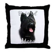 Briard Mom2 Throw Pillow