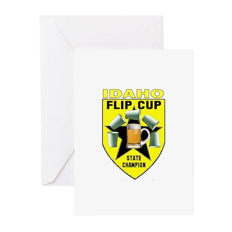 Idaho Flip Cup State Champion Greeting Cards (Pk o