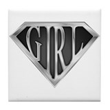 SuperGirl(Metal) Tile Coaster