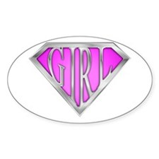 SuperGirl(Pink) Oval Decal