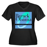 Barack Obama 2008 Women's Plus Size V-Neck Dark T-