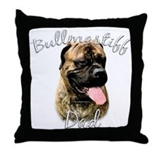 Bullmastiff Dad2 Throw Pillow